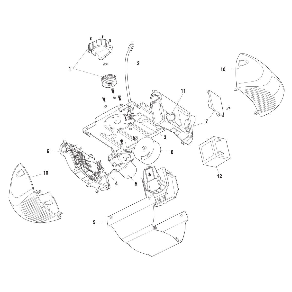 chamberlain hd900d replacement parts