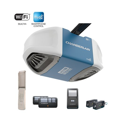 B550 Quiet Belt Drive Wi Fi Garage Door Opener Chamberlain