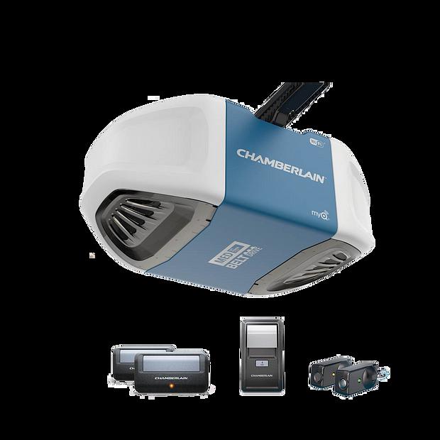 B500  Ultra-Quiet Strong Belt Drive Garage Door Opener with MED Power IN BOX