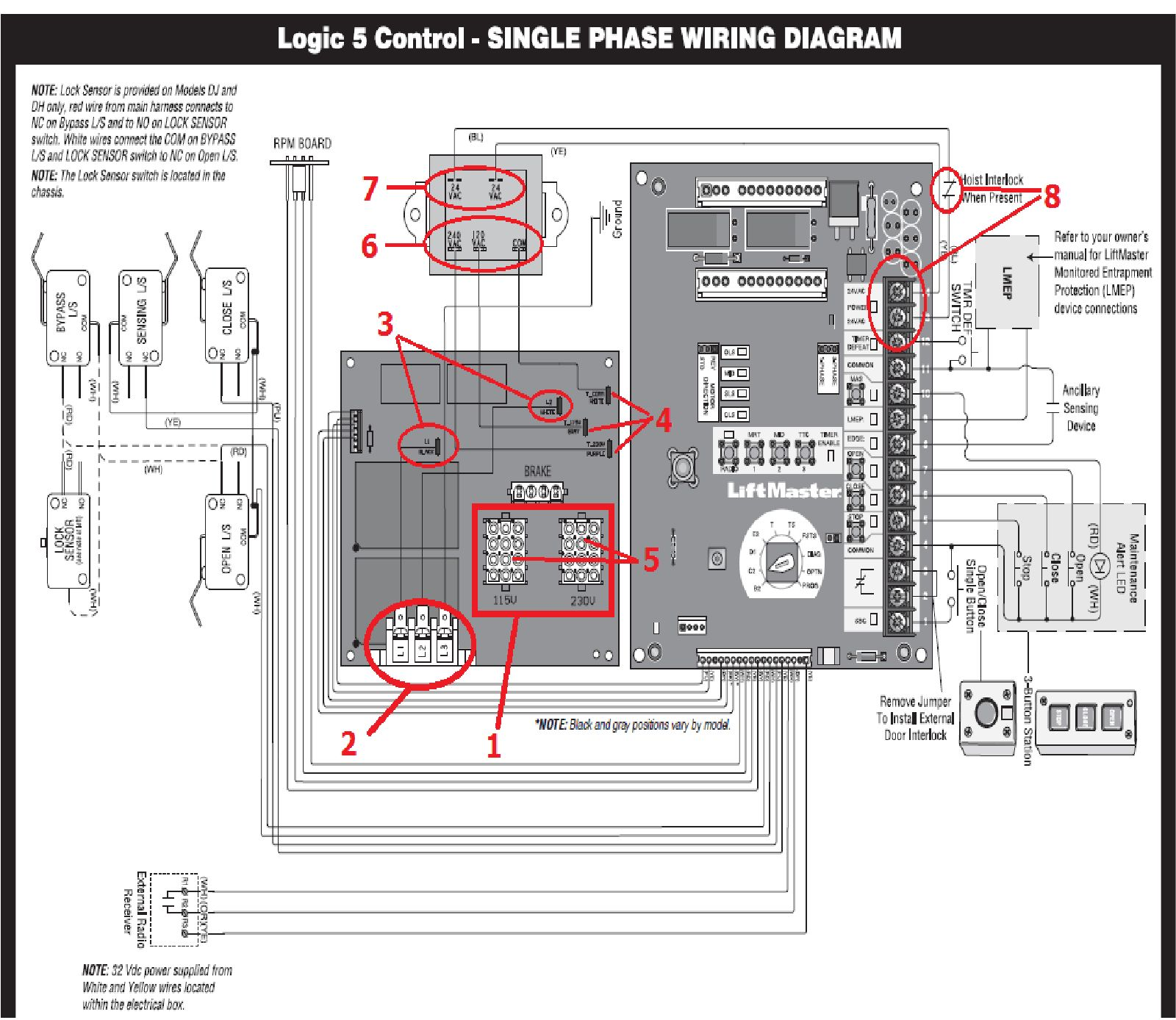 How to test a single phase Logic 5.0 commercial door operator when it does  not power up | LiftMaster Partner Portal Support CenterLiftMaster Support