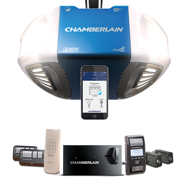 B980 Chamberlain operator bundled with Automatic Garage Door Lock