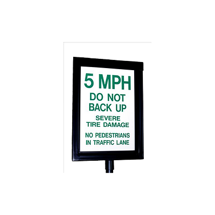 14110 GUARDIAN Manual Spikes Warning Sign Reflective HERO
