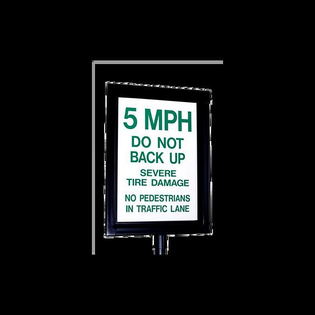 14110 GUARDIAN Manual Spikes Warning Sign Reflective HERO