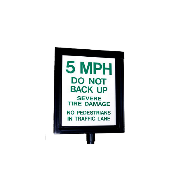 14100 GUARDIAN Manual Spikes Warning Sign Lighted HERO