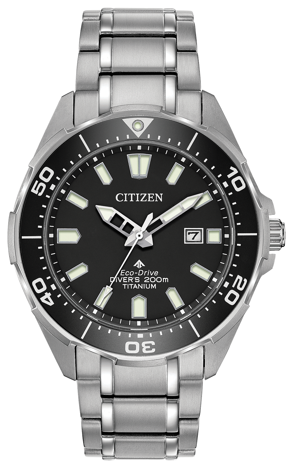 Promaster diver men 39 s eco drive bn0200 56e steel watch citizen for Under water watches