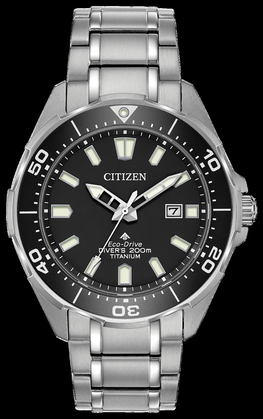 Promaster diver men 39 s eco drive bn0200 56e steel watch citizen - Citizen promaster dive watch ...