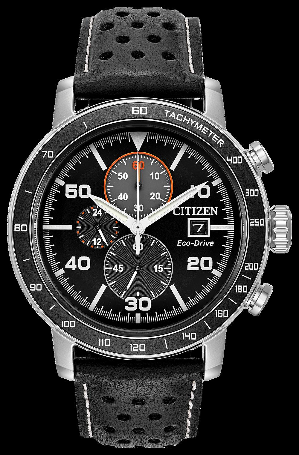 eeda848c2 Brycen - Men's Eco-Drive CA0649-14E Steel Leather Strap Watch | Citizen