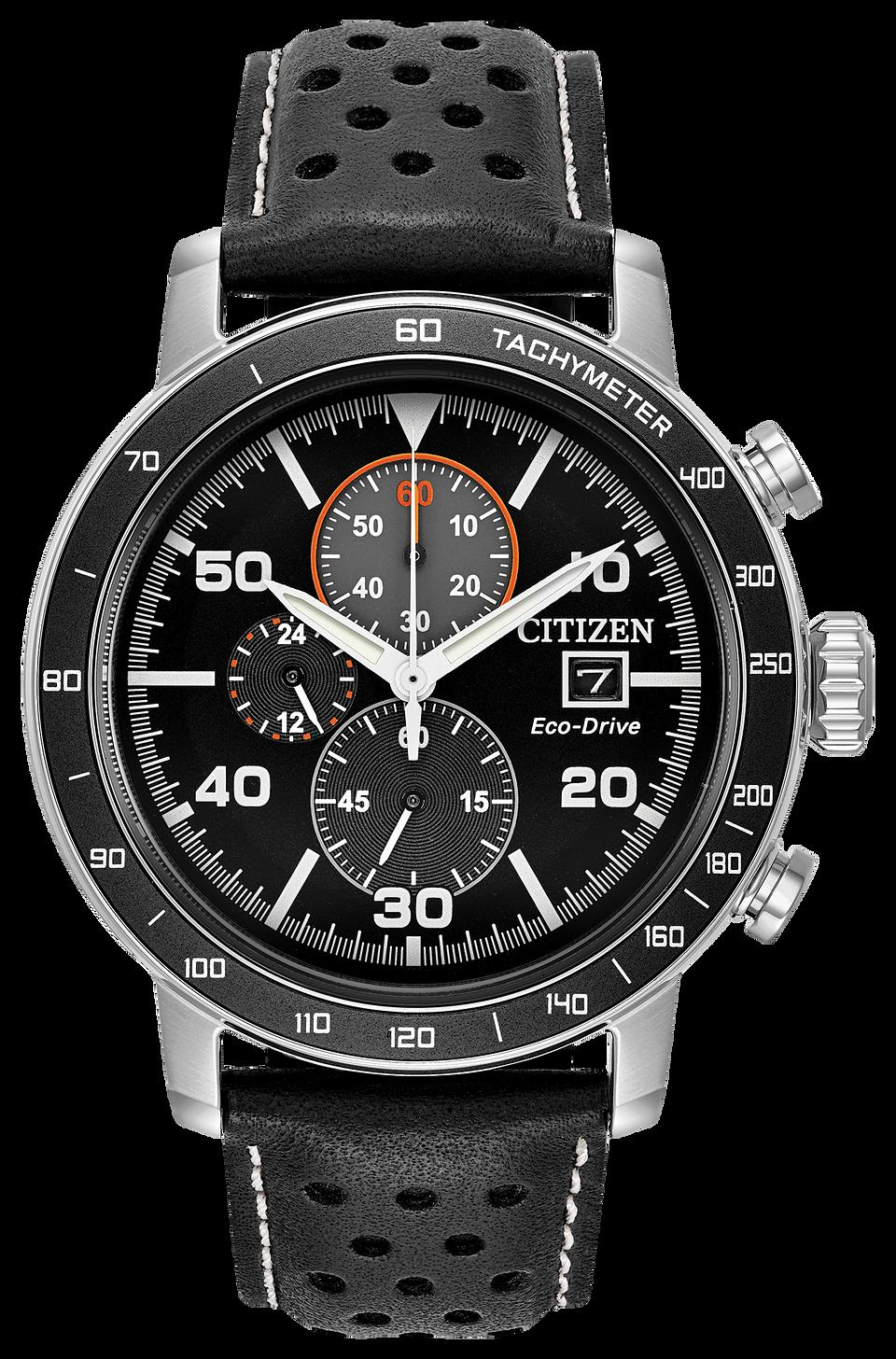 fb8c2f82e7063b Brycen - Men's Eco-Drive CA0649-14E Steel Leather Strap Watch | Citizen