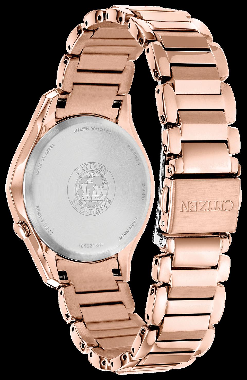 de9bff9ecd2907 Modena - Ladies Eco-Drive EM0593-56A Pink Steel Watch   Citizen