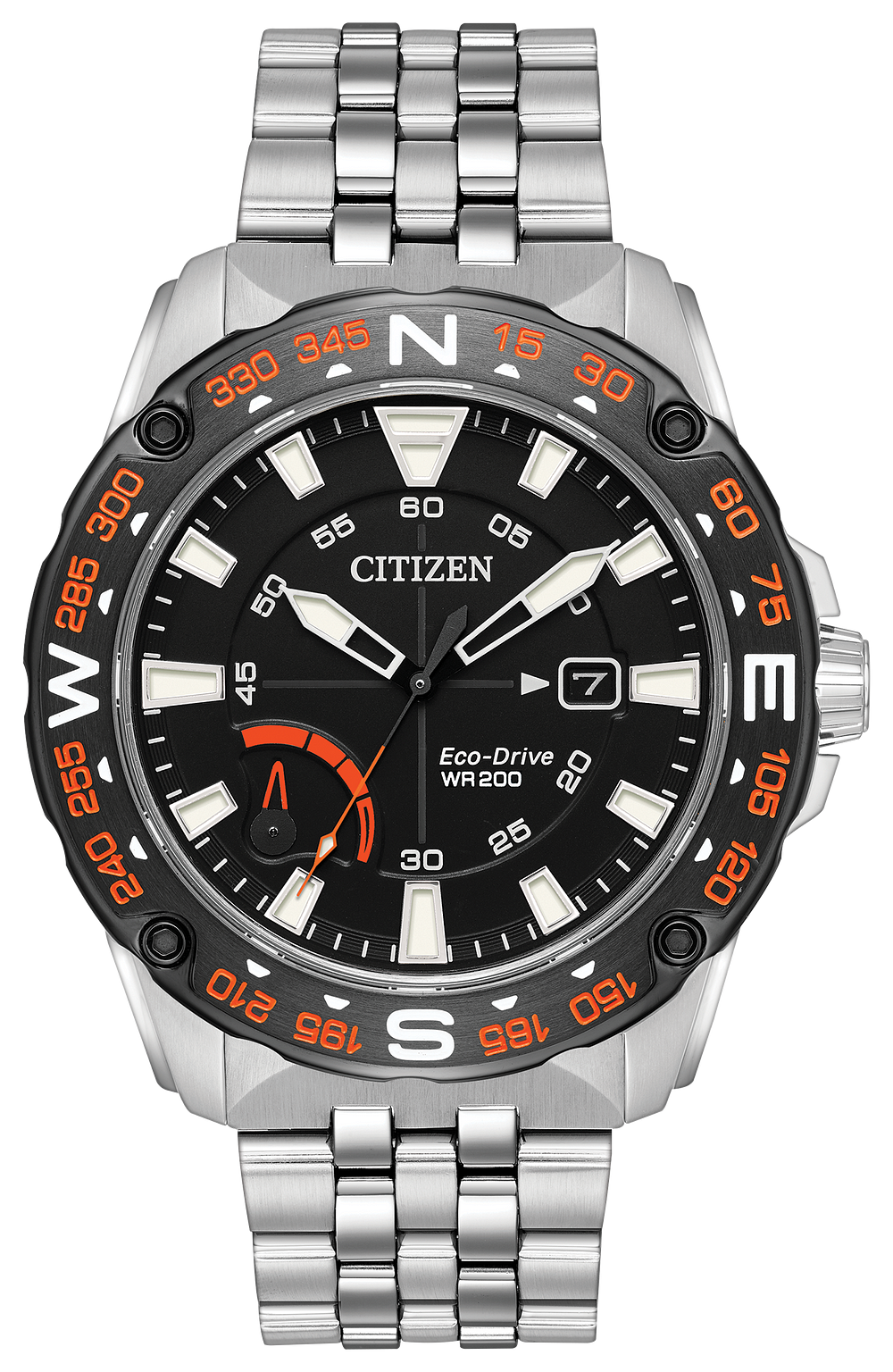 prt men s eco drive stainless steel orange accent dial watch citizen rh citizenwatch com citizen eco drive wr 200 manual citizen eco drive wr 200 manual u600