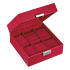Citizen Red 6-Piece Watch Box profile view