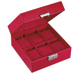 Citizen Red 6-Piece Watch Box