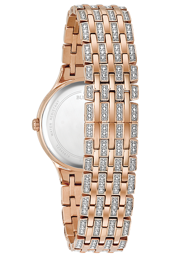 Bulova Phantom Women's Rose Gold Crystal Watch | Bulova