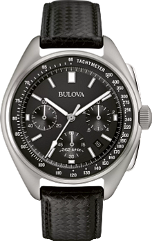 a2a660207 Men's Black Dial Special Edition Lunar Pilot Chronograph Watch | Bulova