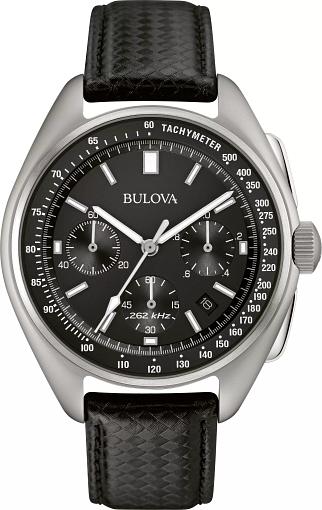 6dffa3801ec06 Men's Black Dial Special Edition Lunar Pilot Chronograph Watch | Bulova