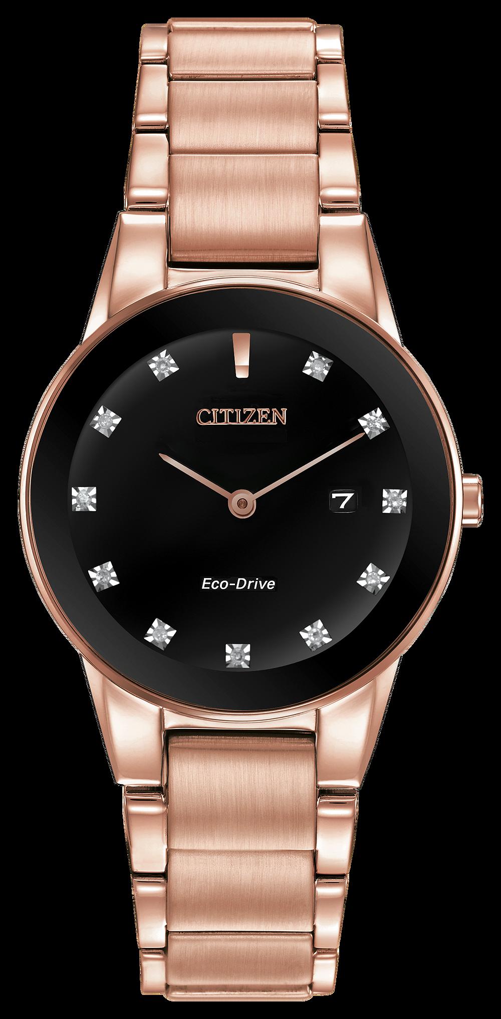 ca35f93ea Axiom - Ladies Eco-Drive GA1058-59Q Diamond Accent Date Watch | Citizen