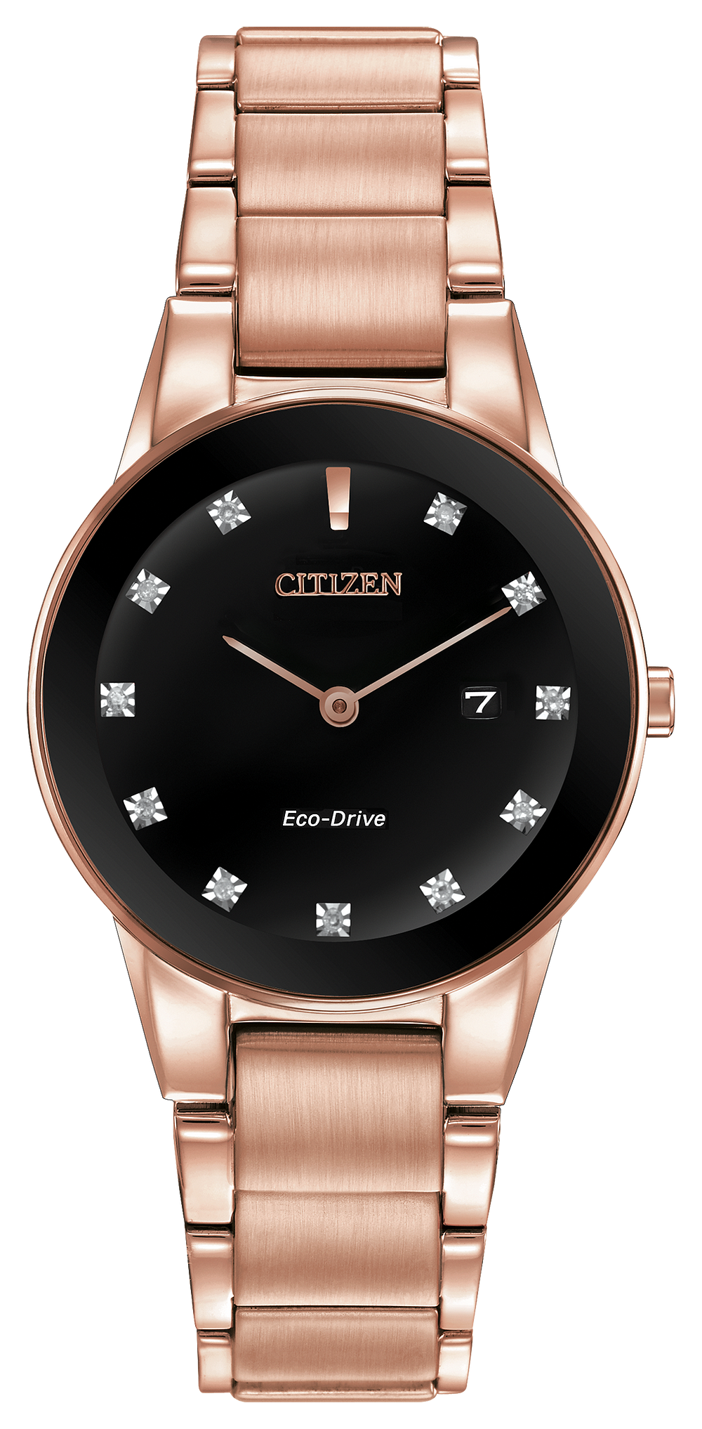 32aabea80db Axiom - Ladies Eco-Drive GA1058-59Q Diamond Accent Date Watch