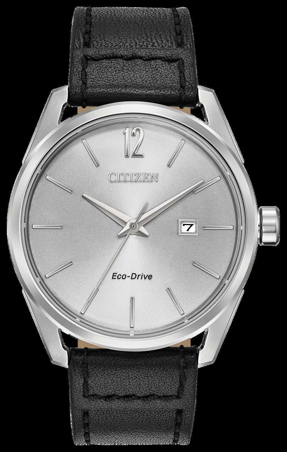7c7fb4e5d CTO - Men's Eco-Drive BM7410-01A Black Leather Strap Watch | Citizen