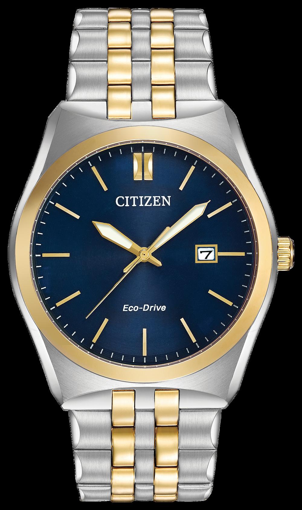 5147db06892 Corso - Men s Eco-Drive BM7334-58L Two Tone Blue Dial Watch