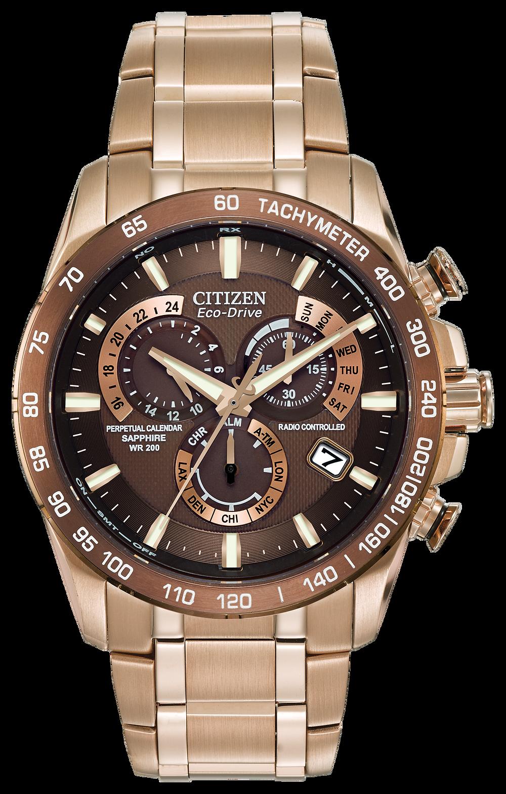 PCAT - Men's Eco-Drive AT4106-52X Gold Atomic Watch | Citizen