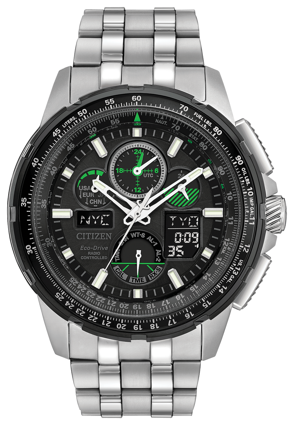 promaster skyhawk a t men s eco drive chronograph black watch rh citizenwatch com citizen eco drive wr 200 manual citizen eco drive promaster wr 200 manual