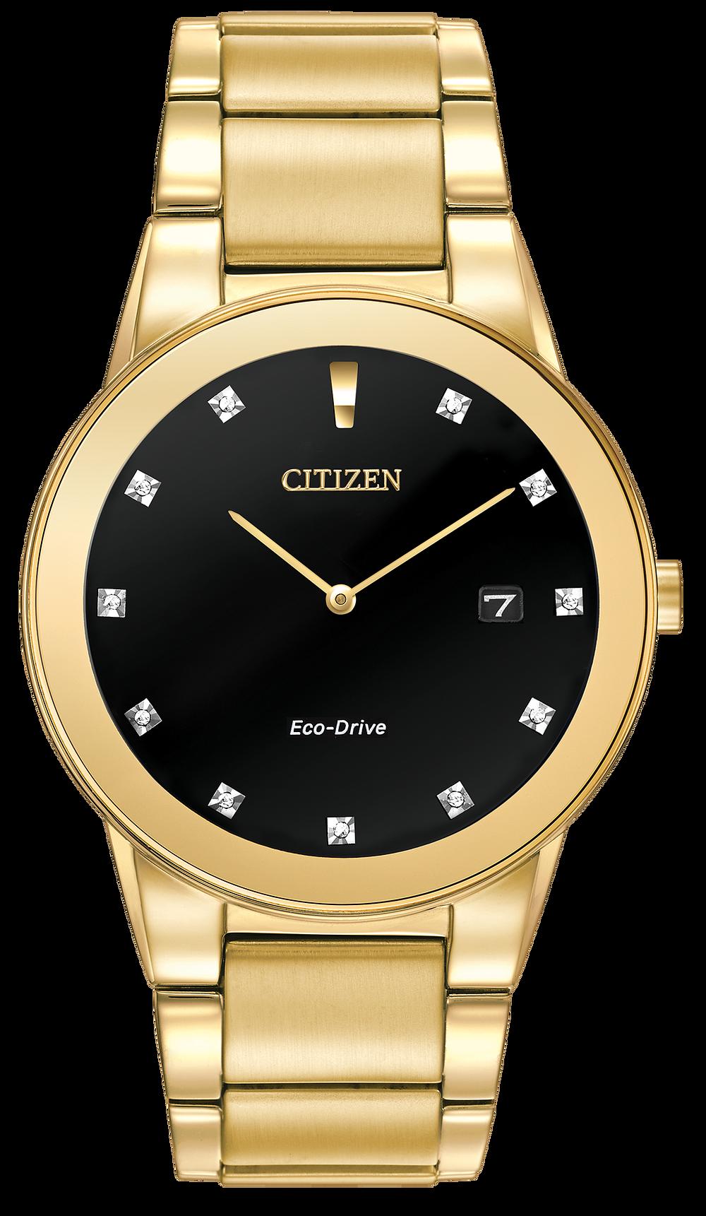 a839090c762 Axiom - Men s Eco-Drive AU1062-56G 11 Diamond Dial Watch