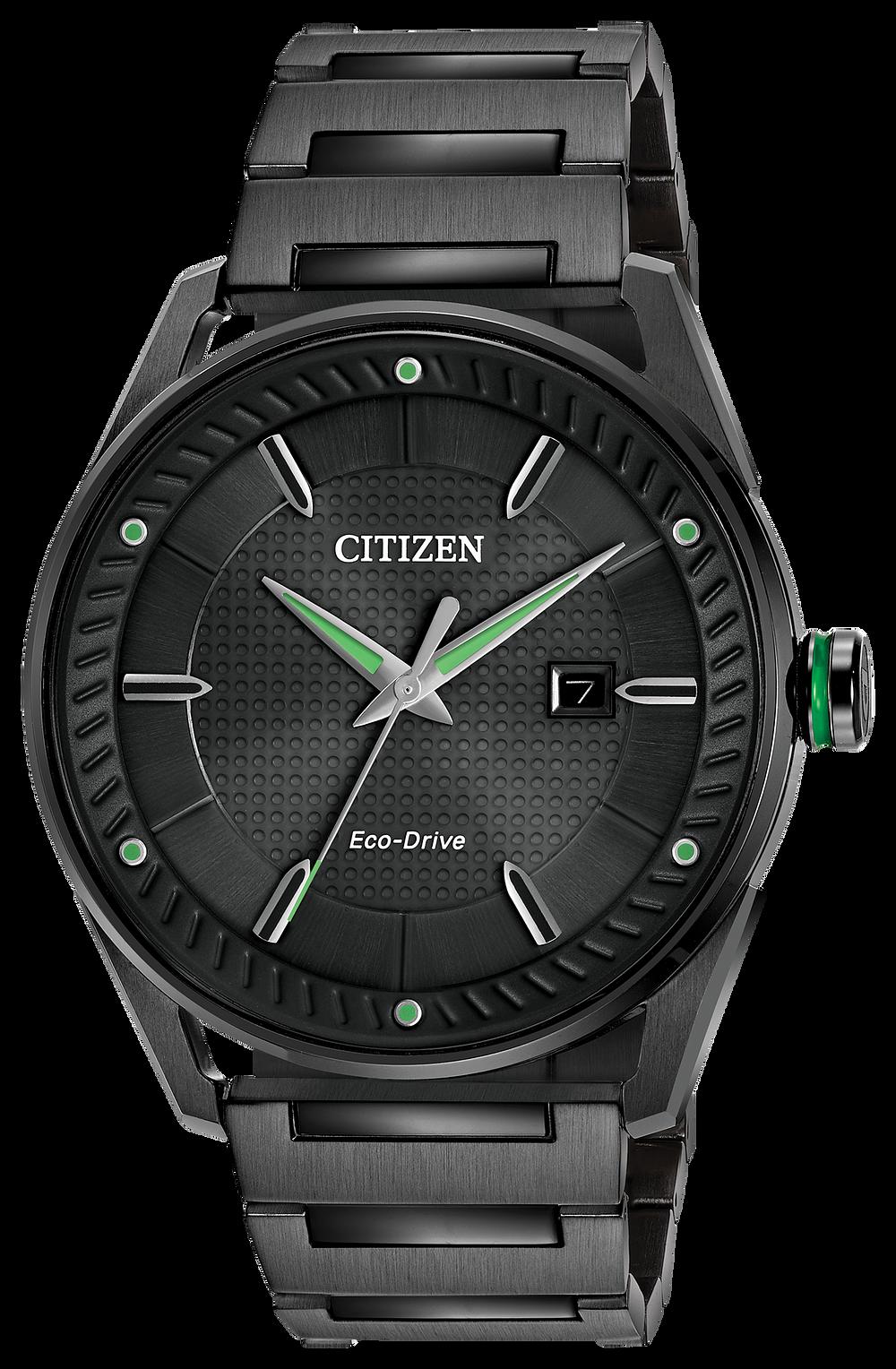 CTO - Men s Eco-Drive BM6985-55E Green Accents Watch  e12478648