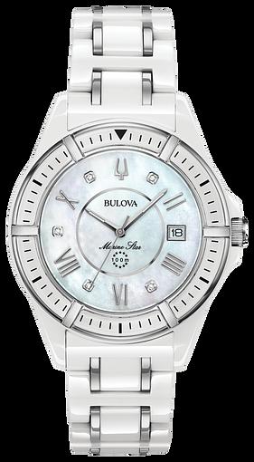 1bc5402c0b20 Women s Diamond White Ceramic Stainless Steel Marine Star Watch
