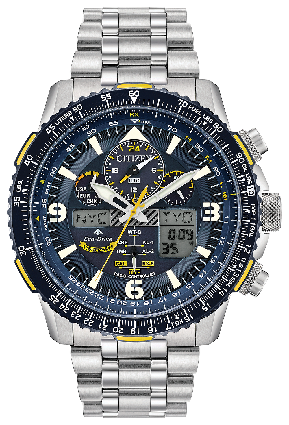 Citizen men's jr3060-59f eco-drive titanium skyhawk chronograph.