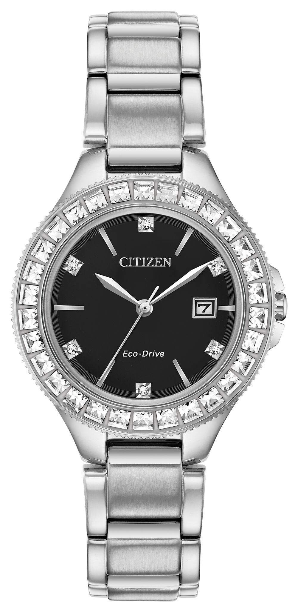 Silhouette Crystal - Ladies Eco-Drive FE1190-53E Black ...
