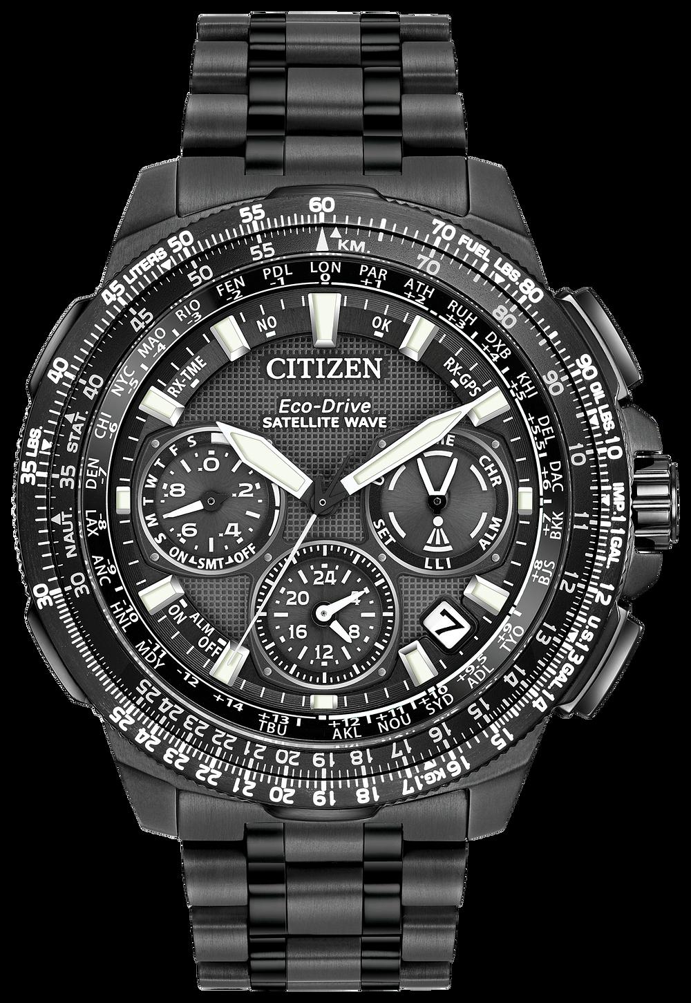 cf074cbf461 Satellite Wave F900 - Men s Eco-Drive Black Titanium Watch