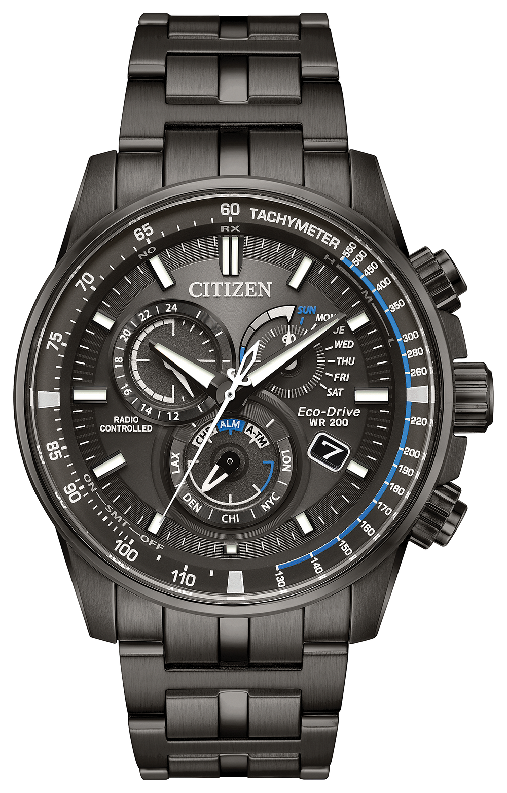 Pcat Men S Eco Drive At4127 52h Charcoal Grey Atomic Watch Citizen