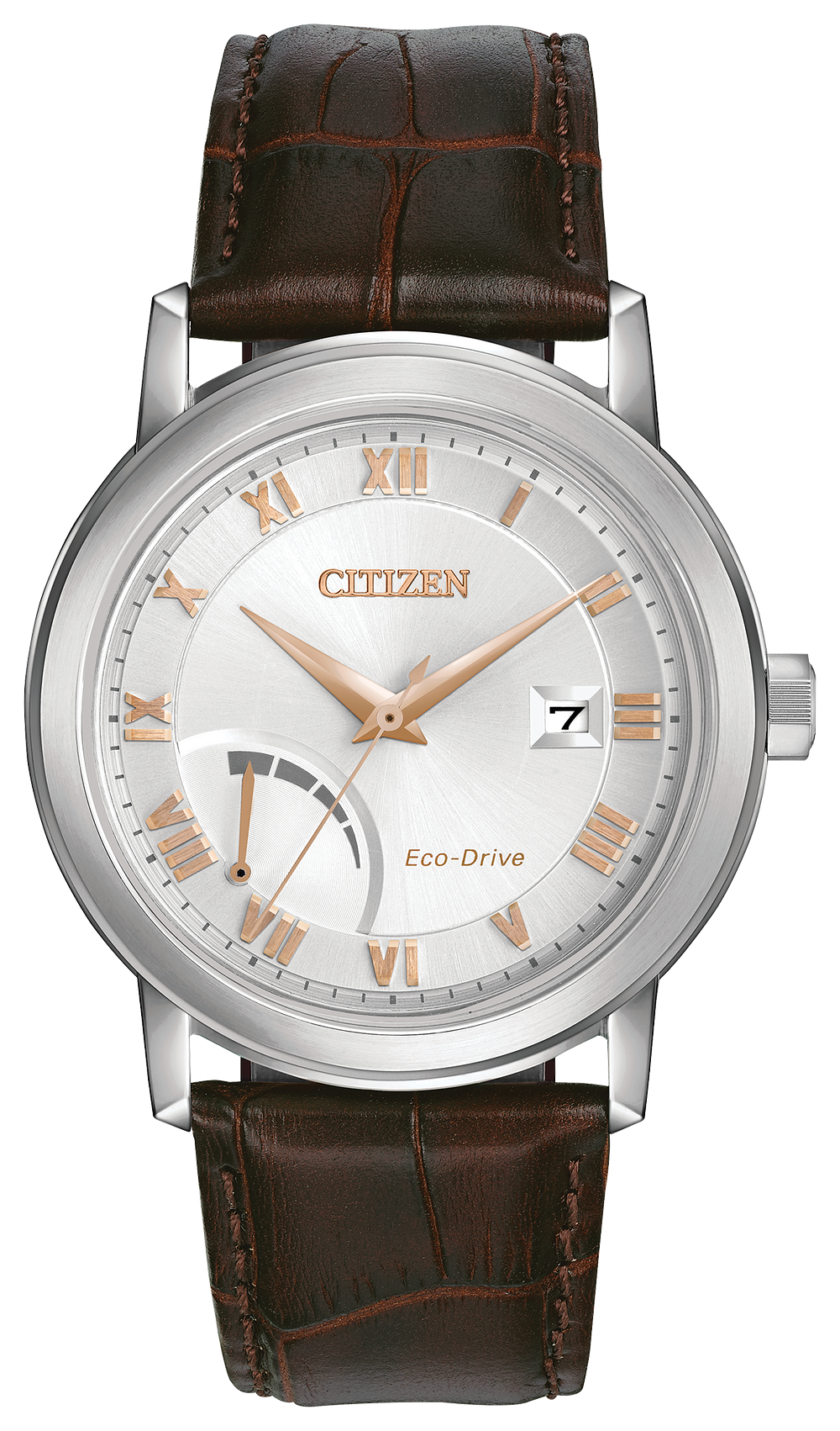 bea116aed PRT- Men's Eco-Drive AW7020-00A Brown Leather Strap Watch | Citizen