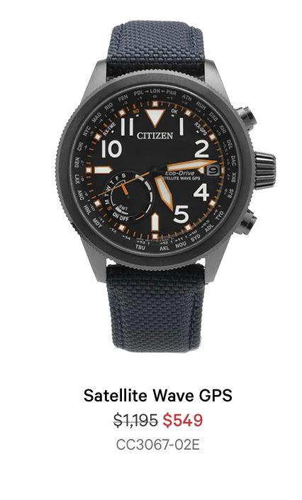 Satellite Wave GPS - $549 - CC3067-02E