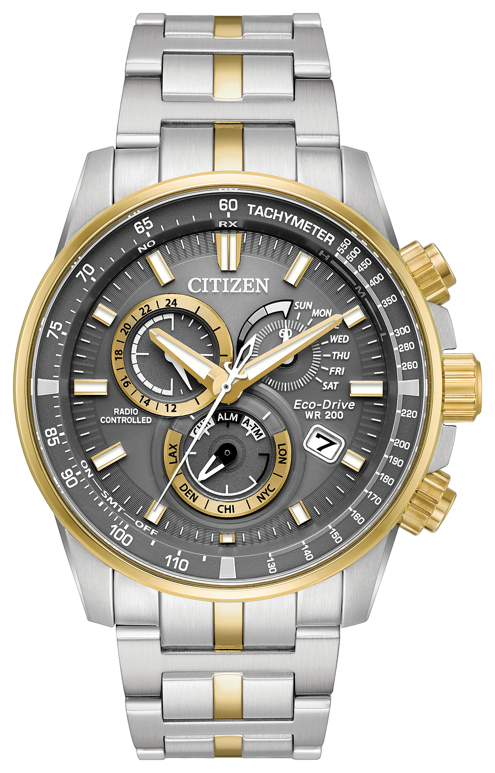 PCAT - Men s Eco-Drive AT4124-51H Two-Tone Silver Gold Watch  8b3c81290999