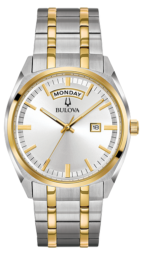 cb791eb3135 Men s Gold Two-Tone Silver Dial Classic Watch