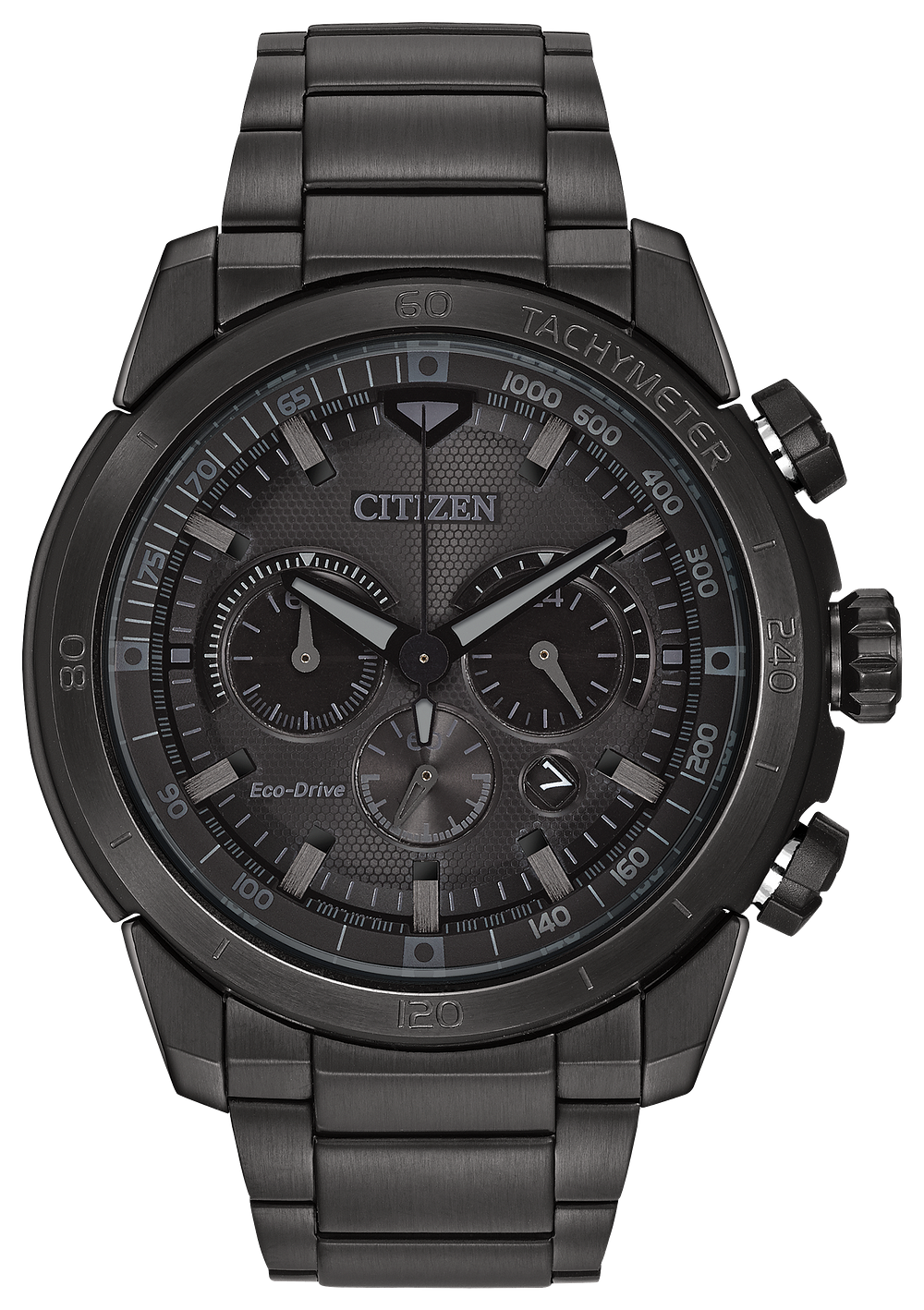 c757ae7fdcb Ecosphere - Men's Eco-Drive Black Stainless Steel Watch | Citizen
