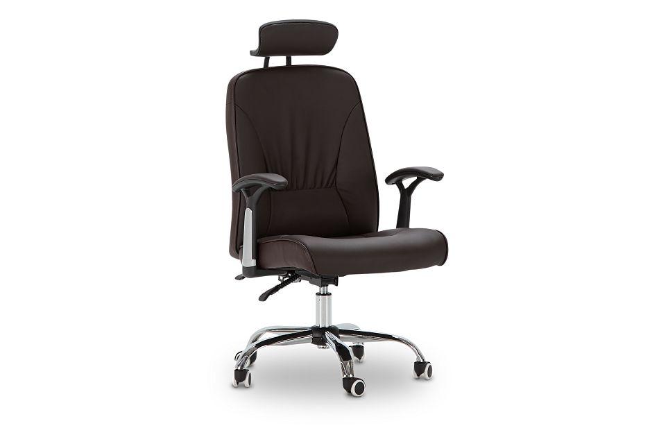 Aurora Brown Uph Desk Chair, %%bed_Size%% (1)