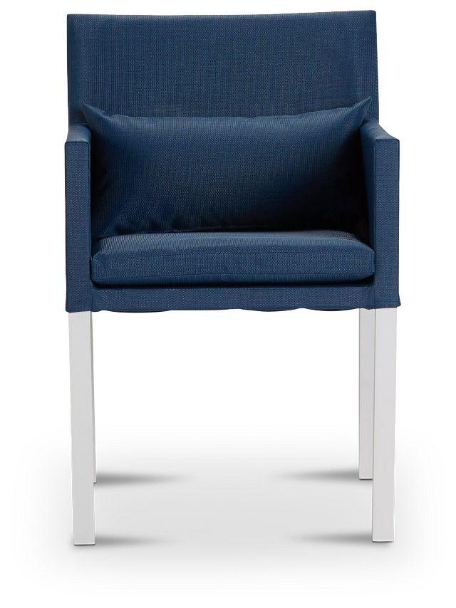 Lisbon Navy Cushioned Chair (2)