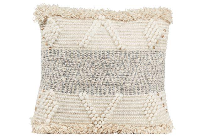 Atari Gray Accent Pillow