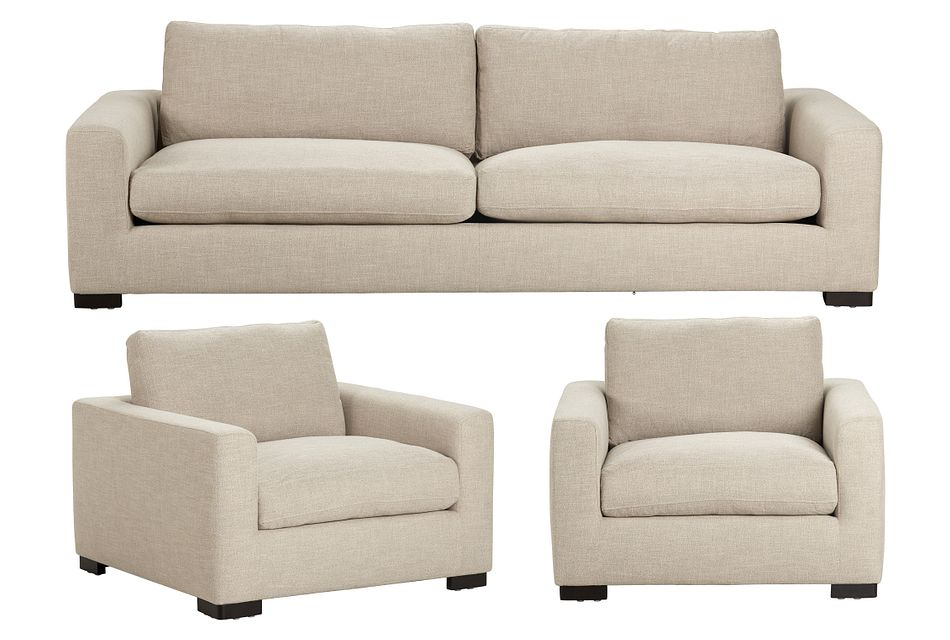 Bohan Pewter Fabric Large Living Room