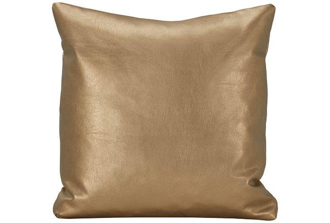 Sizzle Gold Vinyl Square Accent Pillow