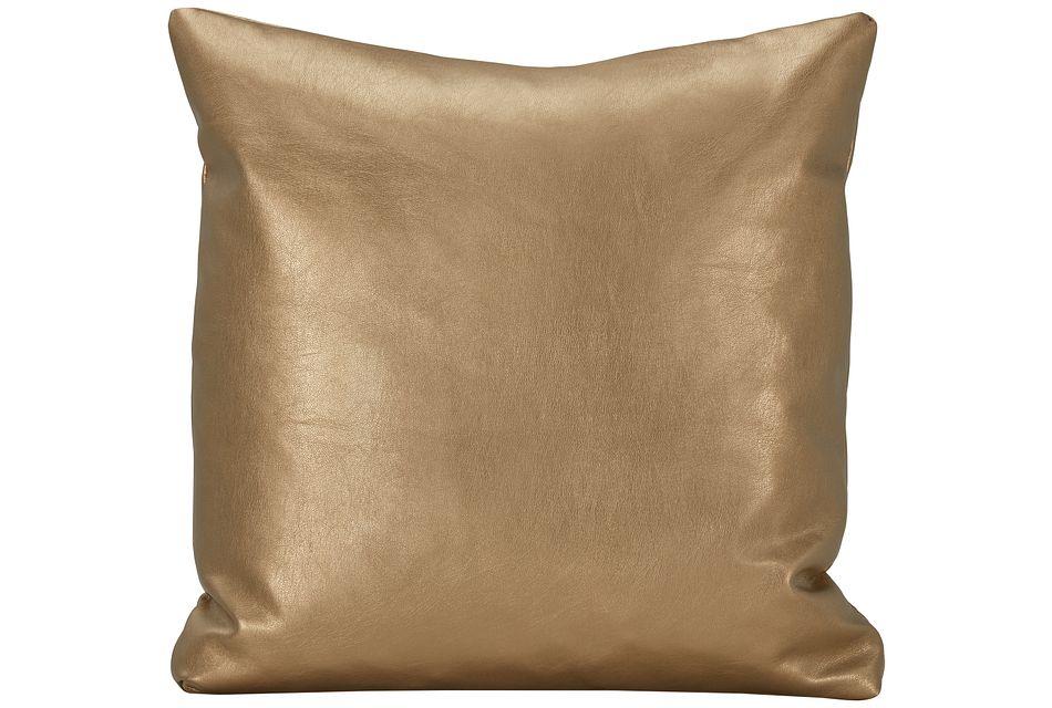 Sizzle Gold Vinyl Square Accent Pillow,  (0)