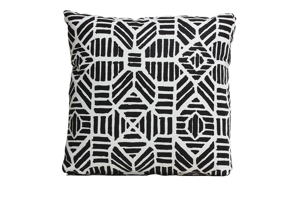 """Ribble Black 18"""" Indoor/outdoor Accent Pillow"""