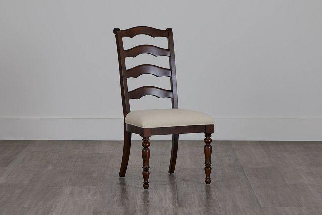 Savannah Dark Tone Wood Side Chair (2)