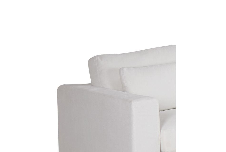 Cozumel White Fabric 6-piece Modular Sectional