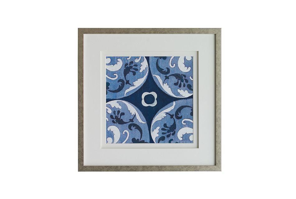 Bleu Dark Blue Framed Wall Art
