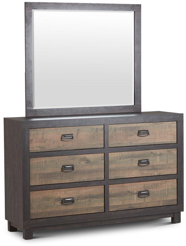 Harlington Dark Tone Dresser & Mirror (3)