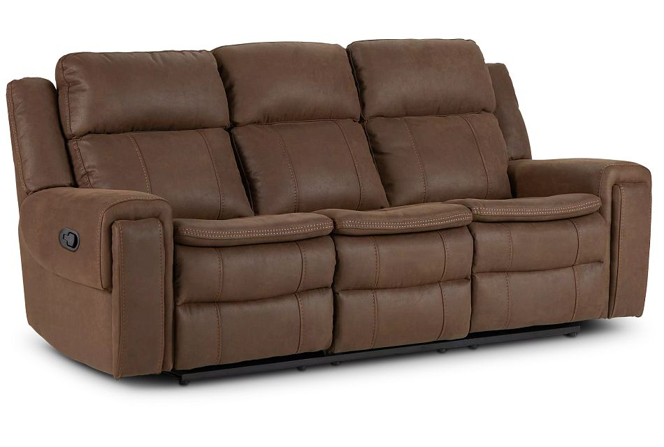 Scout Brown Micro Reclining Sofa