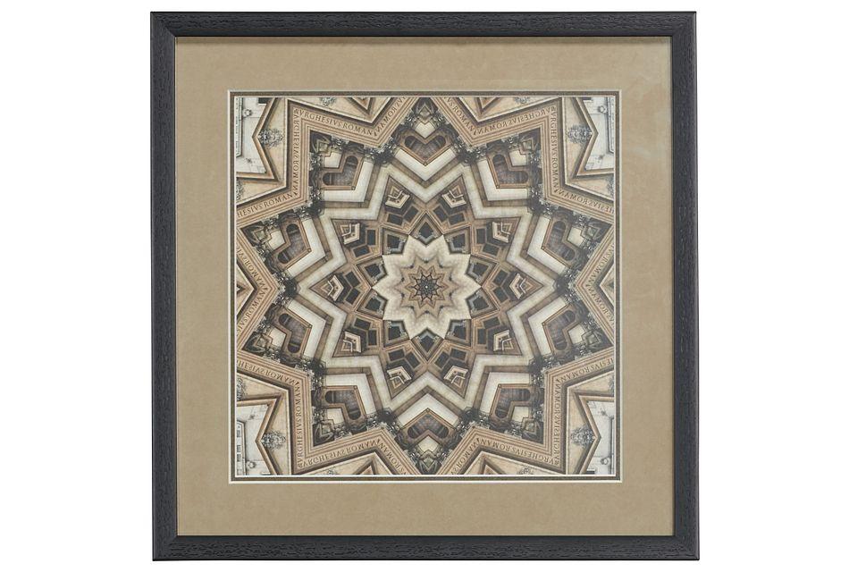 Metric Brown Framed Wall Art